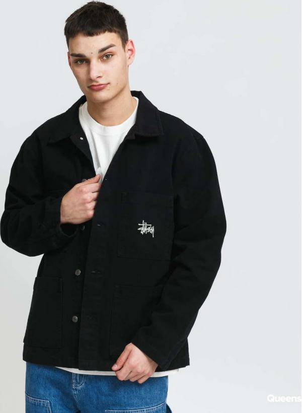 Stüssy Canvas Chore Jacket black