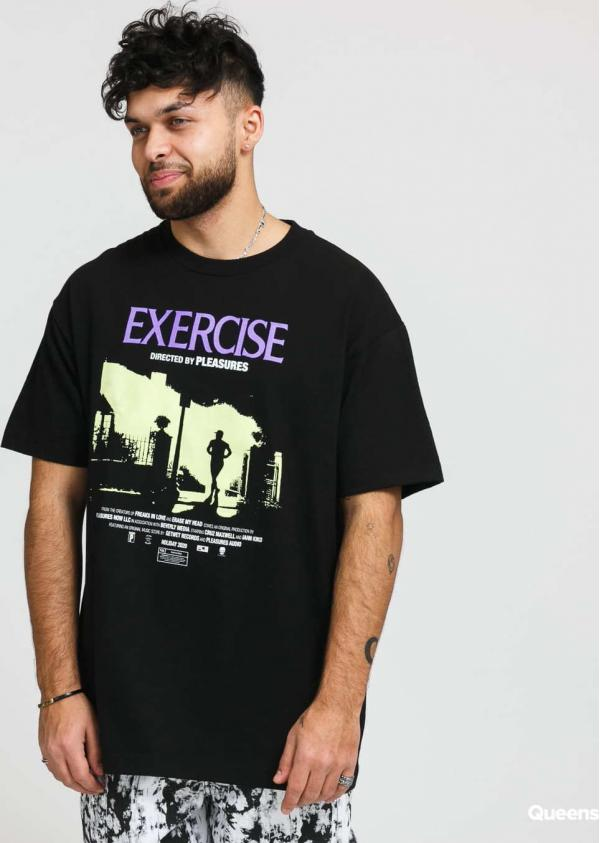 PLEASURES Exercise Tee černé