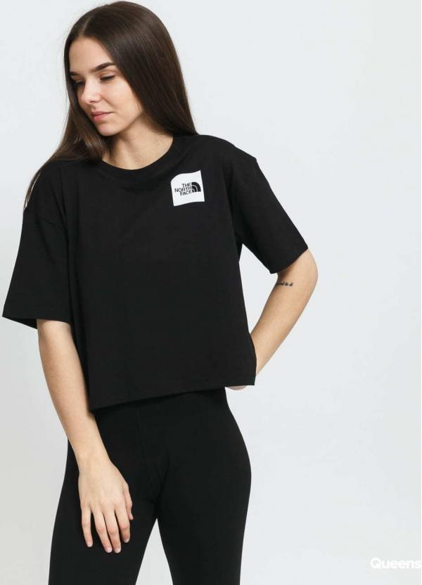 The North Face W Cropped Fine Tee černé