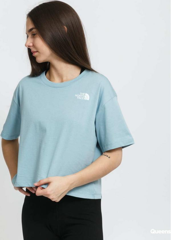 The North Face W Cropped Simple Dome Tee modré
