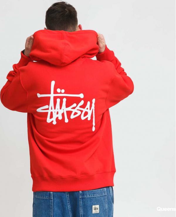 Stüssy Basic Stussy Hood červená