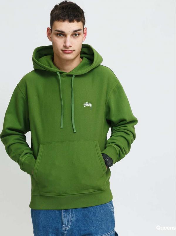 Stüssy Stock Logo Hood zelená