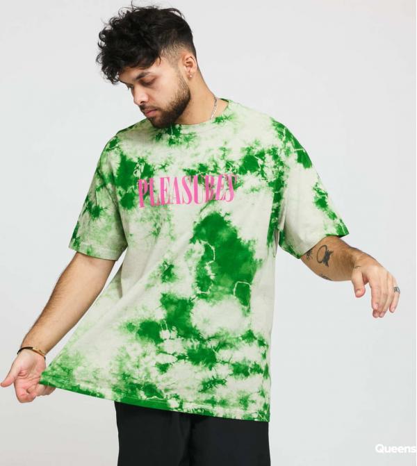 PLEASURES Natural Aroma Crystal Dye Shirt krémové / zelené
