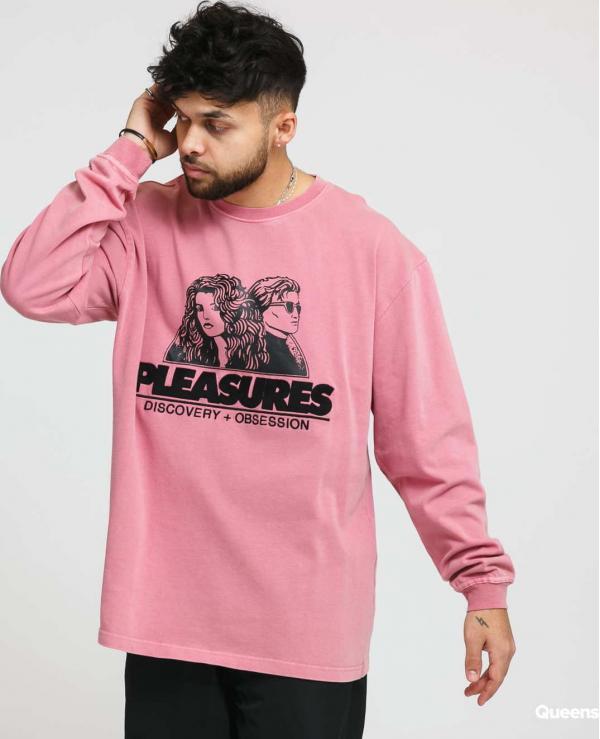 PLEASURES Discovery Heavy Weight Shirt růžové