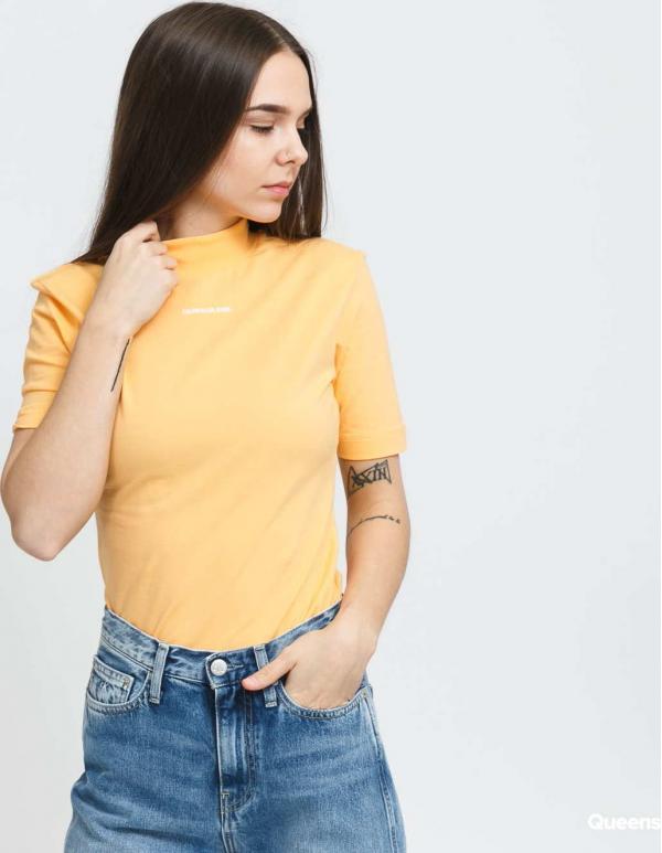 CALVIN KLEIN JEANS W Micro Branding světle oranžové