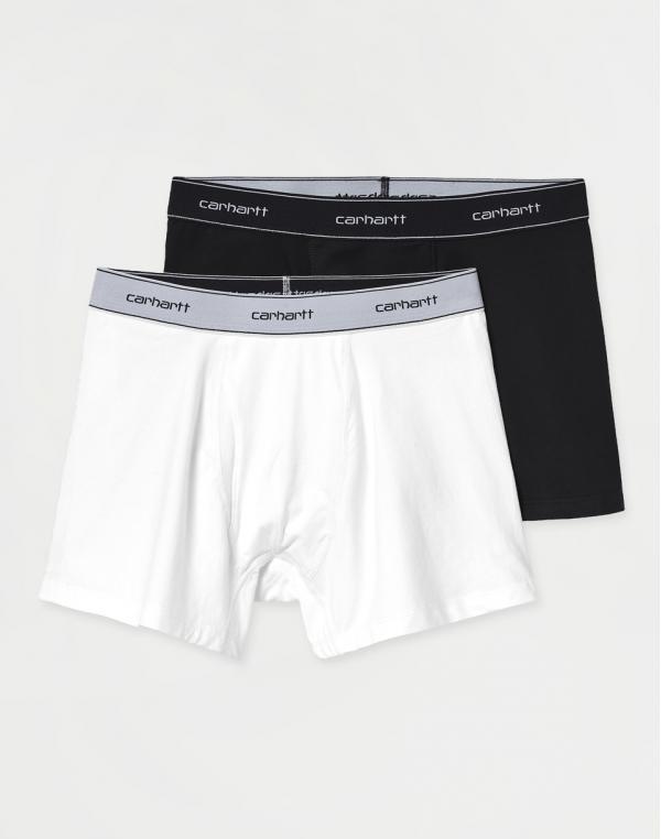 Carhartt WIP Cotton Trunks Black + White L