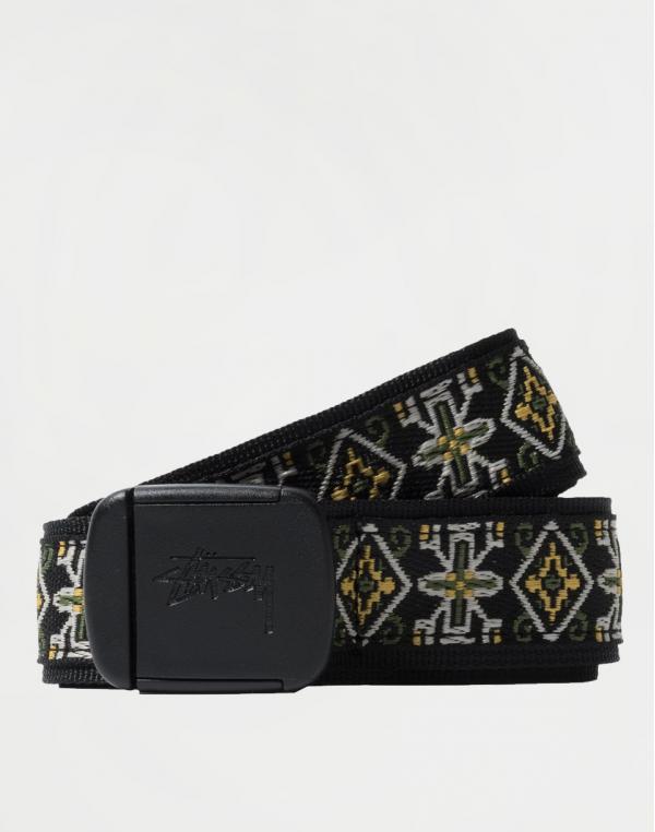 Stüssy Psych Jacquard Belt BLACK