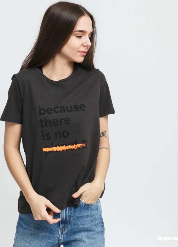 Ecoalf W Becausalf Underlined T-shirt tmavě šedé