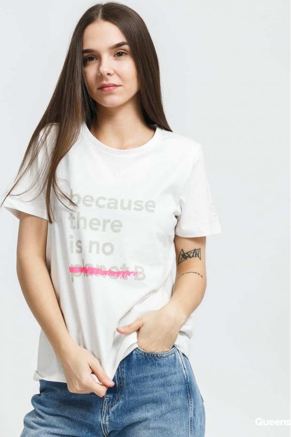 Ecoalf W Becausalf Underlined T-shirt bílé