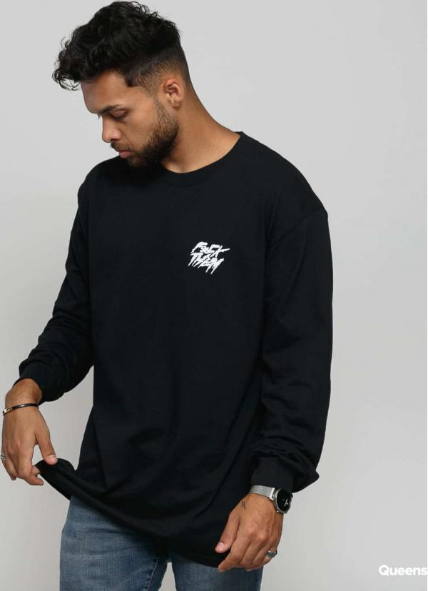 F*CK THEM Basic Long Sleeve Tee černé