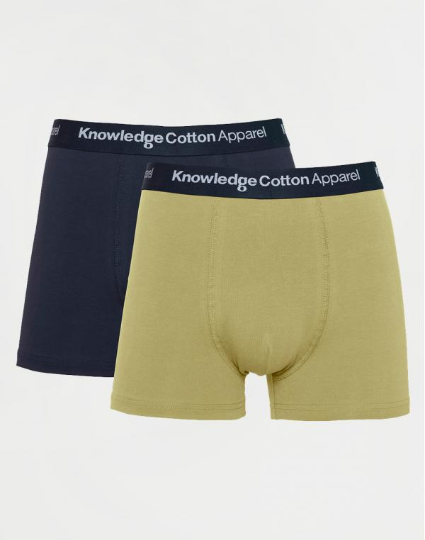 Knowledge Cotton Maple 2 Pack Underwear 1246 Sage (light usty green) L