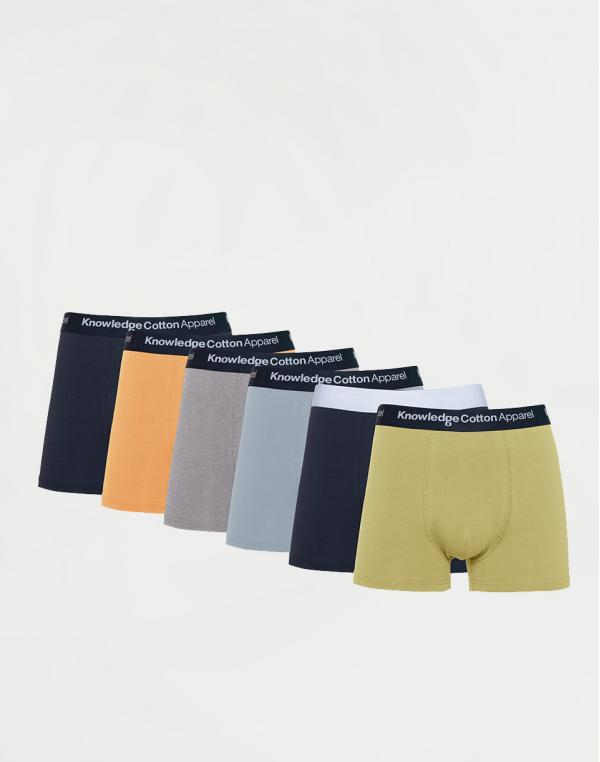 Knowledge Cotton Maple 6 Pack Underwear 1322 Asley Blue XL