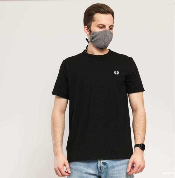 FRED PERRY Ringer Tee černé