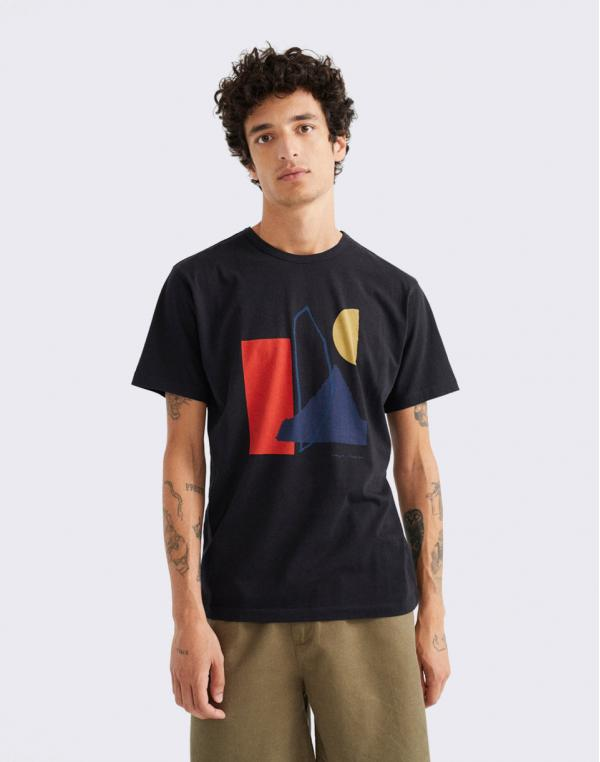 Thinking MU Abstract Black T-Shirt BLACK XL
