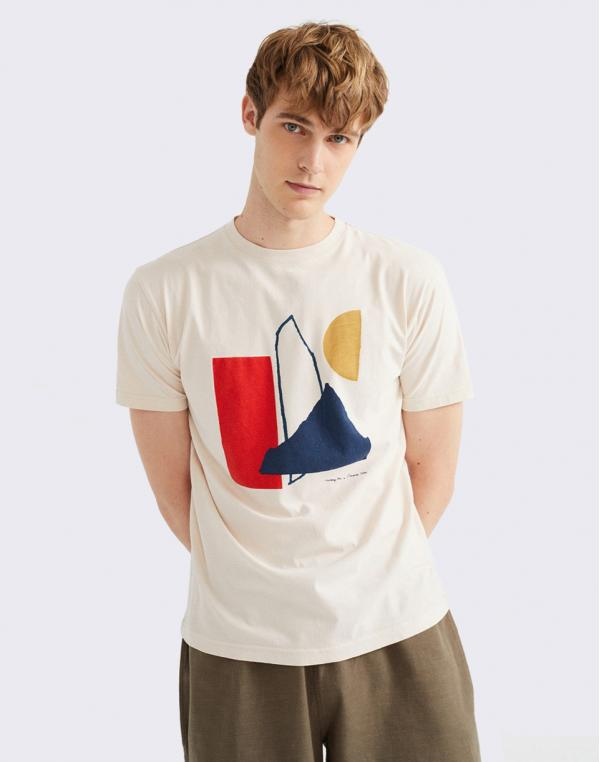 Thinking MU Abstract Bone T-Shirt BONE M