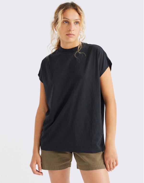 Thinking MU Basic Black Volta T-Shirt BLACK S