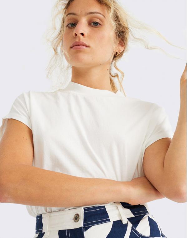 Thinking MU Basic White Volta T-Shirt SNOW WHITE M