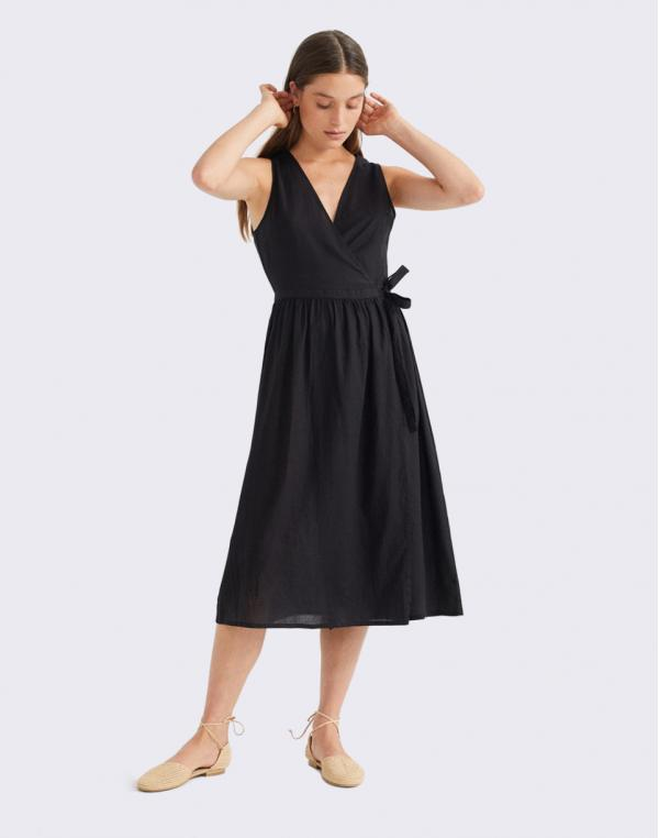 Thinking MU Black Amapola Dress BLACK XS