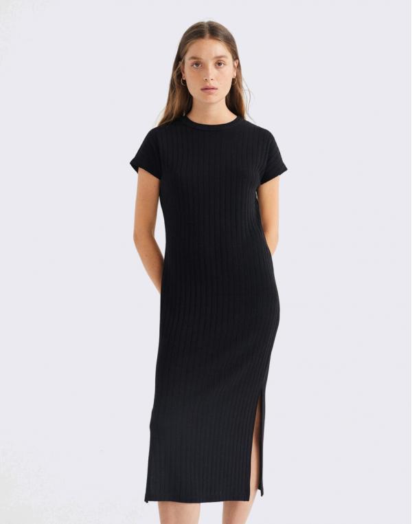 Thinking MU Black Trash Cherry Dress BLACK S
