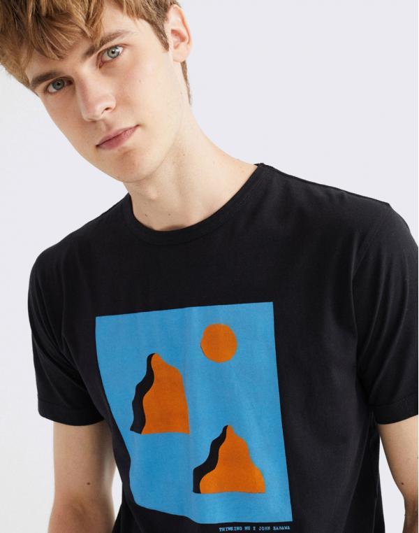 Thinking MU Mountains T-Shirt BLACK S