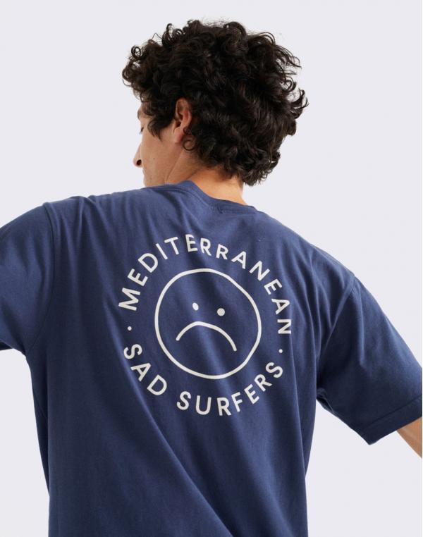 Thinking MU Sad Surfers T-Shirt NAVY S
