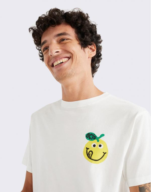 Thinking MU Small Acid T-Shirt SNOW WHITE M