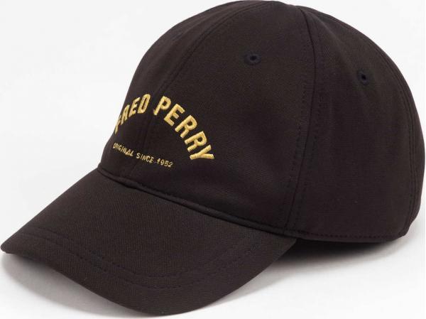FRED PERRY Arch Branded Tricot Cap černá