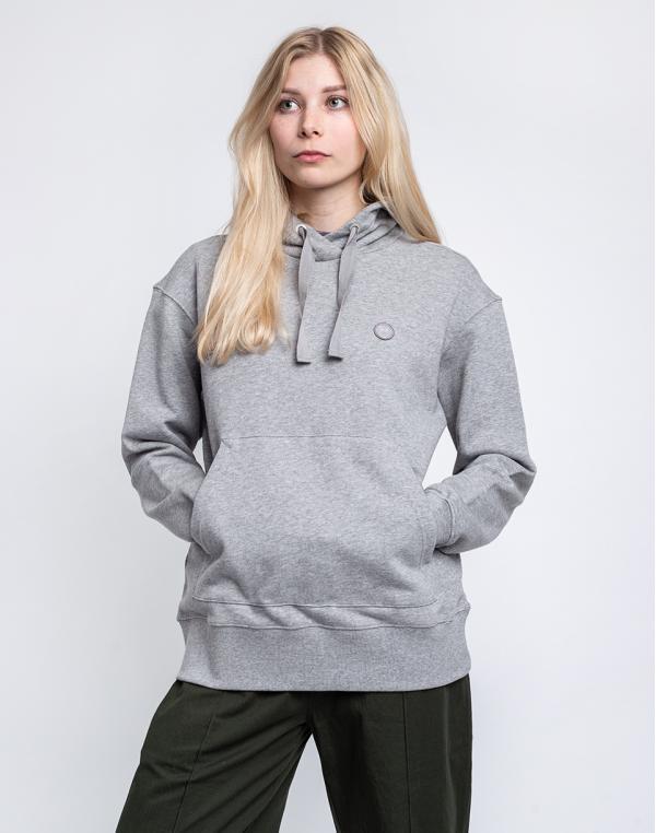 Knowledge Cotton Daphne Basic Badge Hoodie 1012 Grey Melange L
