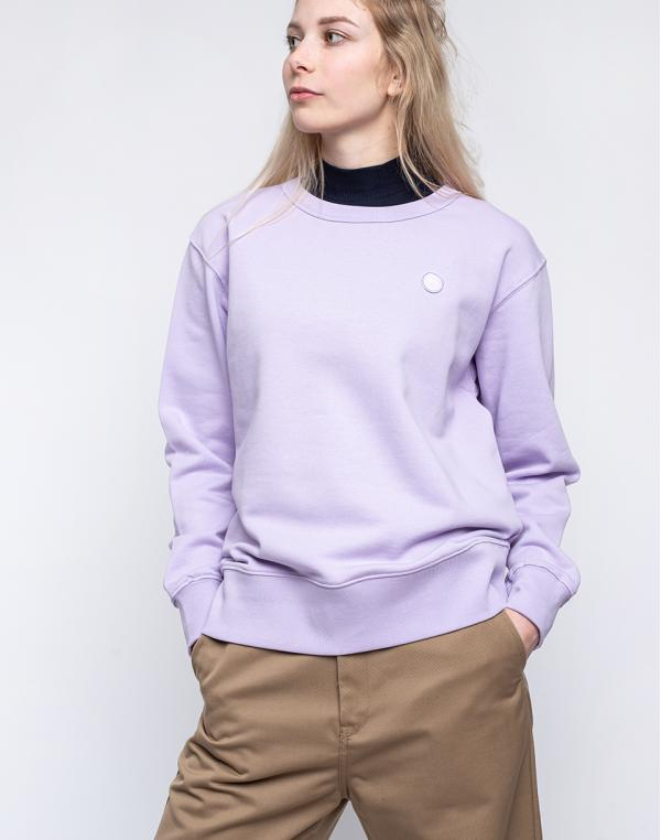 Knowledge Cotton Daphne Basic Badge Sweat 1324 Pastel Lilac S