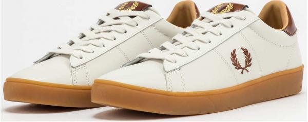 FRED PERRY Spencer Leather Tab porcelain