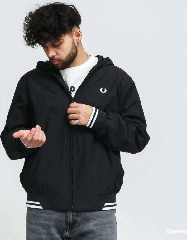 FRED PERRY Hooded Brentham Jacket černá