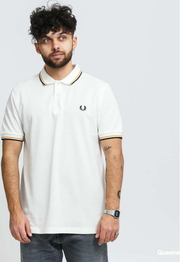 FRED PERRY Twin Tipped Fred Perry Shirt krémové