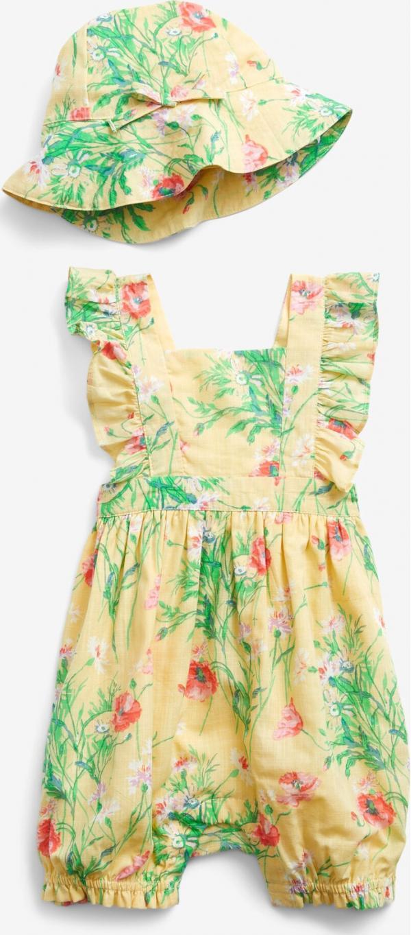 Floral Shortie Body dětské GAP