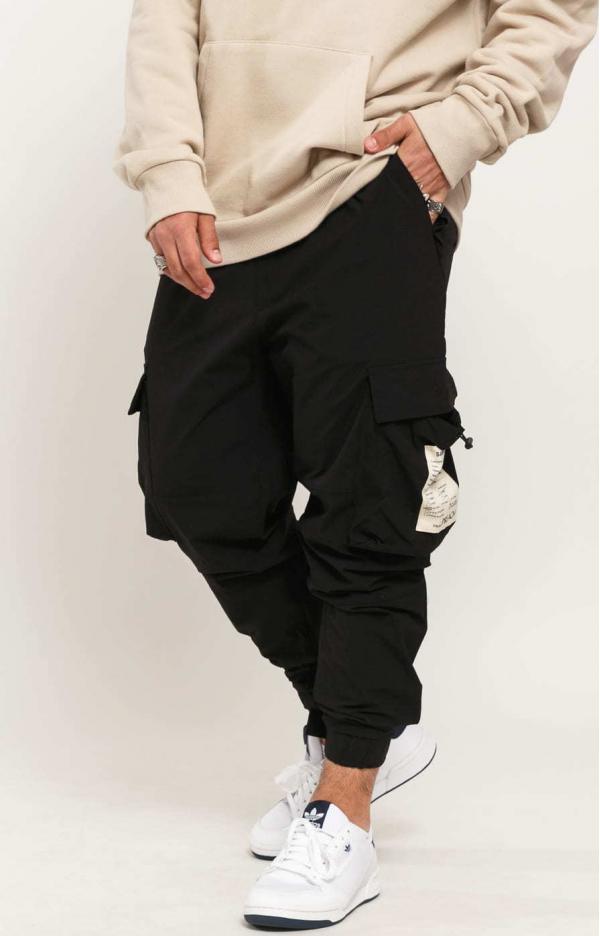 PREACH Nylon Cargo Pants černé