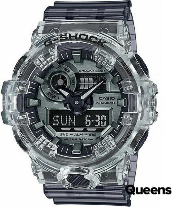 """Casio G-Shock GA 700SK-1AER """"Clear Skeleton Series"""" černé / průhledné"""
