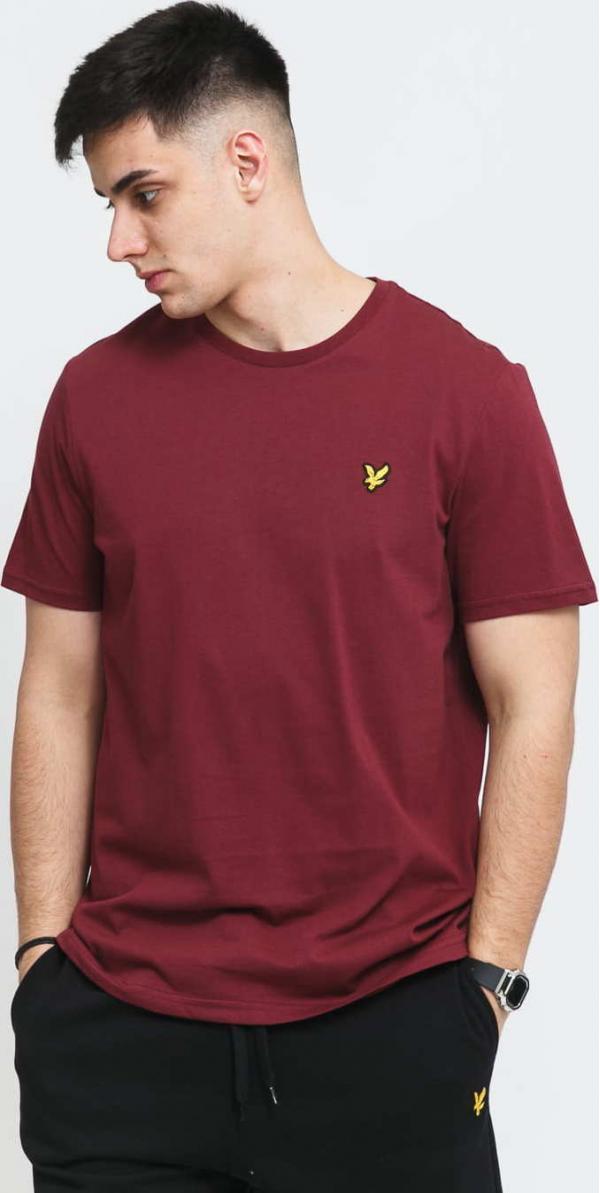 Lyle & Scott Plain T-Shirt vínové