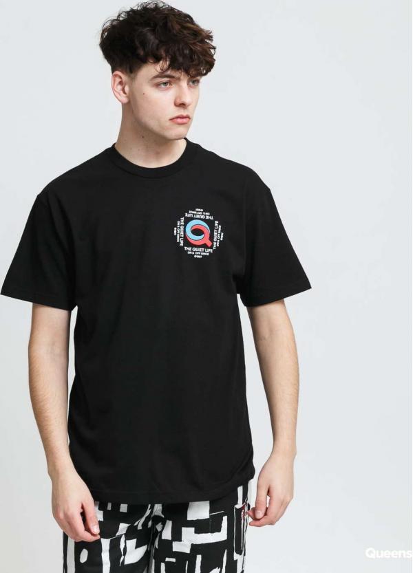 The Quiet Life Swirly Q T-shirt černé