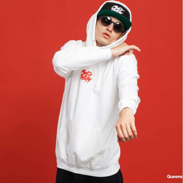 F*CK THEM F*CK THEM Basic Hoodie bílá / červená