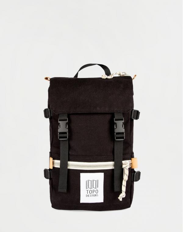 Topo Designs Rover Pack Mini Black Canvas