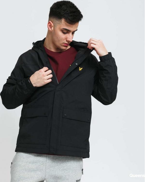 Lyle & Scott Hooded Pocket Jacket černá