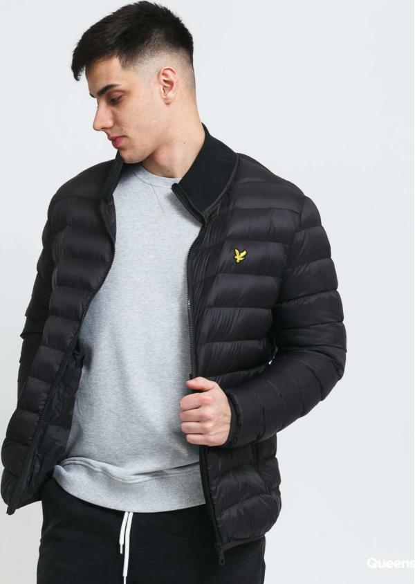 Lyle & Scott Packable Puffer Jacket černá