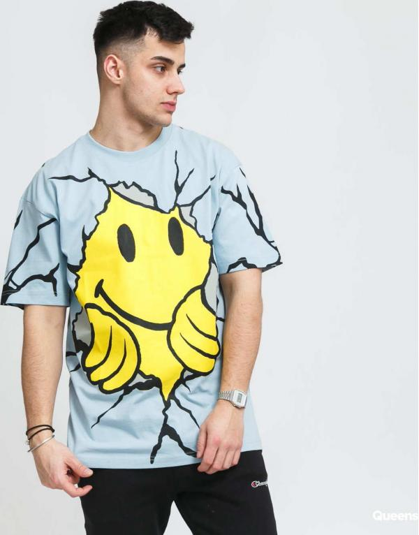 Chinatown Market Smiley Dry Wall Breaker Tee modré