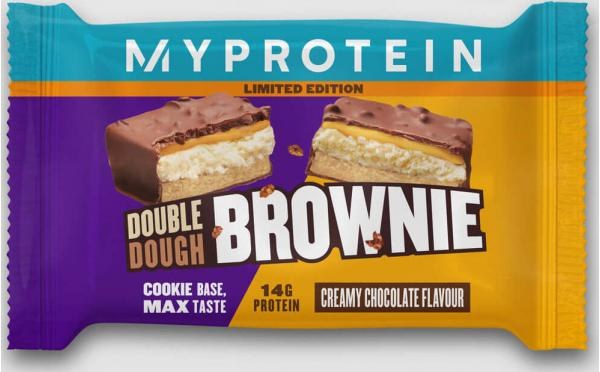 Myprotein  Double Dough Brownie - 12 x 60g - Creamy Chocolate - Limited Edition