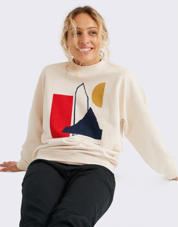 Thinking MU Abstract Sweatshirt BONE M