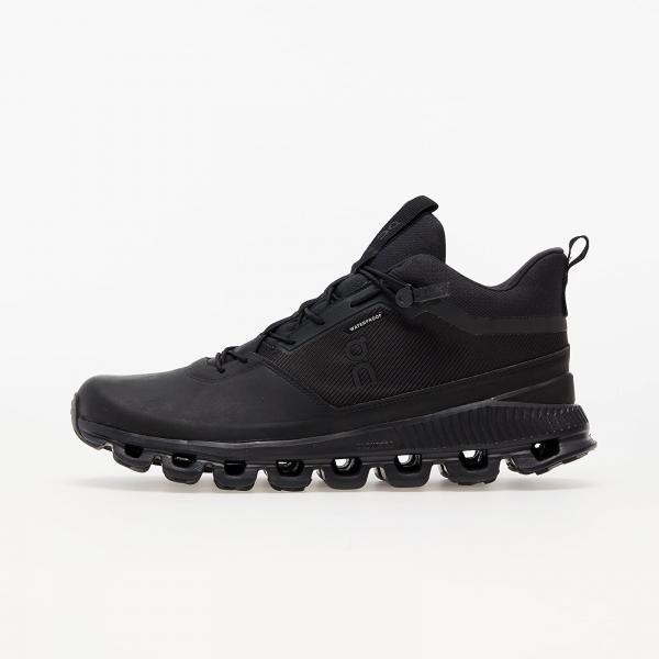 On M Cloud Hi Waterproof All Black