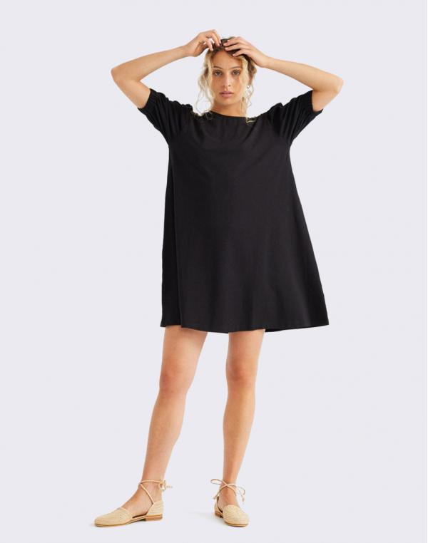 Thinking MU Black Floreta Dress BLACK M