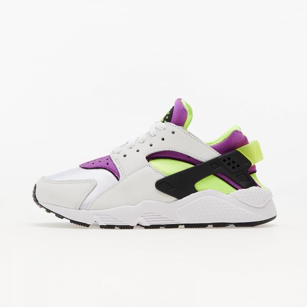 Nike Air Huarache White/ Neon Yellow-Magenta-Black
