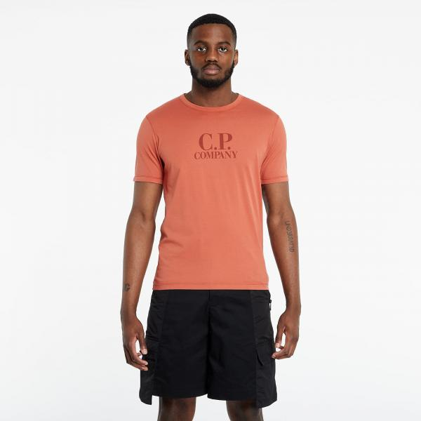 C.P. Company Makó Logo Tee Orange