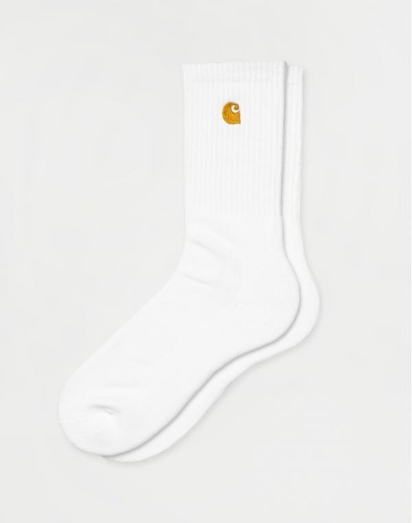 Carhartt WIP Chase Socks White / Gold