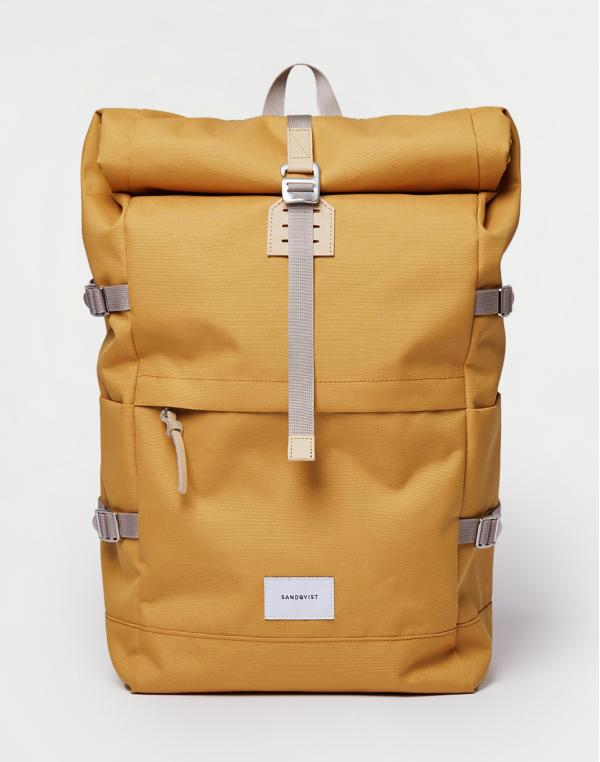 Sandqvist Bernt Yellow with Natural Leather